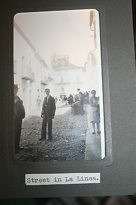 LA LINEA GIBRALTAR  FANTASTIC RECORD  1920 photograph each 65 by 110mm not pcard