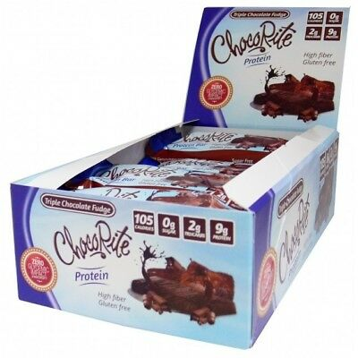 ChocoRite 9g Triple Layer Protein Bars by HealthSmart - Triple Chocolate Fudge