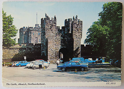 Postcard The Castle Alnwick Northumberland. Old Cars. Unposted