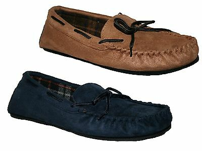 Mens Faux Suede Lightweight Mens Moccasin Slipper In 2 Colours Size 7-12