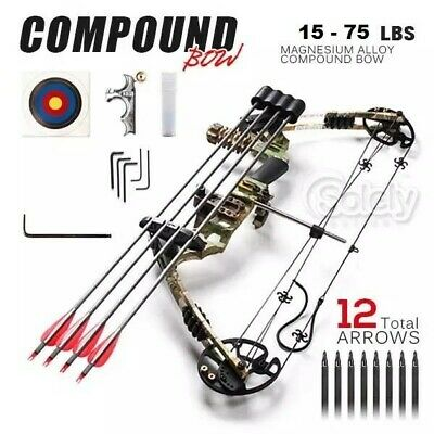 20-70LBS Magnesium Alloy Adjustable Camo New Compound Bow Archery Sports Hunting