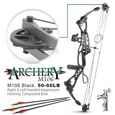 50-60lbs Left & Right Handed Archer Magnesium Alloy Compound Bow Archery Hunting