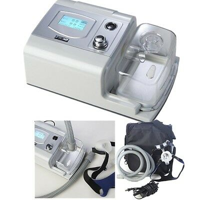 CE Portable Auto cpap Machine For Sleep Apnea Grey shell LCD Screen therapeutic
