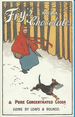 Advertising Postcard - FRY`S MILK CHOCOLATE - GOING BY LEAPS & BOUNDS