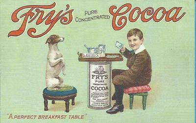 Advertising Postcard - FRY`S COCOA - A PERFECT BREAKFAST TABLE