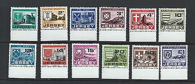 Jersey CI Channel Islands MNH To Pay Labels 1978 Parish Arms and Views
