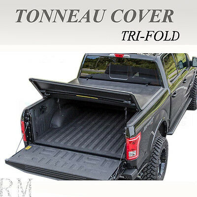 Lock Tri-Fold Tonneau Cover Fits 1999-2006 Chevy Silverado/Gmc Sierra 6.5ft Bed