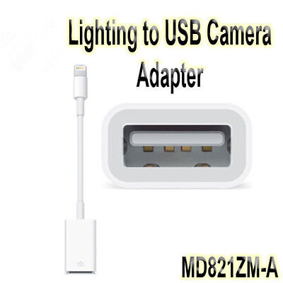 8-Pin Lightning to USB Camera Adapter For Apple iPad & iPhone Camera MD821ZM/A