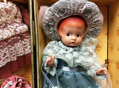 """Vintage Effanbee Patsyette Doll #9605 - Reproduced Adorable Doll 8.5"""" Case & Out"""