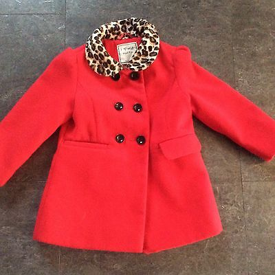 Girls Next Red Warm Winter Coat. Age 1-2years.