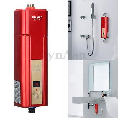 BOLAIKE Mini Instant Electric Hot Tankless Water Heater System Tap Faucet 5500W