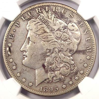 1895-S Morgan Silver Dollar $1 - NGC VF Details - Rare Key Date Certified Coin