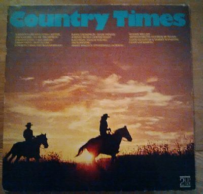 Country Times Double Vinyl Compilation Album LP Johnny Cash, Ray Price