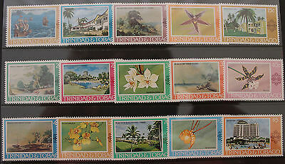 Trinidad and Tabago 1976-1978 Set MNH 15v Paintings Hotels Orchids SG479-495