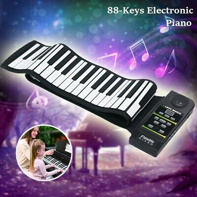 Konix 88 Keys Flexible Roll-Up Digital Electronic Portable Keyboard Piano Melody