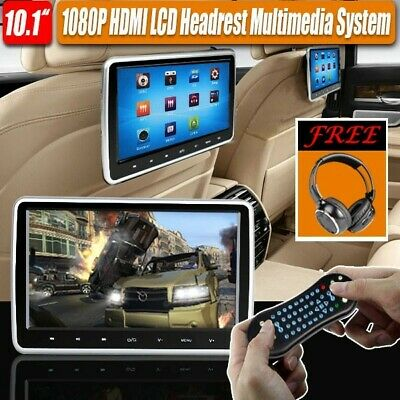 "New 10"" Touch Car Video Headrest Active Monitor DVD/USB Player Game Headsets"