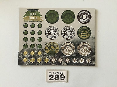 Warhammer 40,000 40K Tank Shock The Renegade Foundries Counters Markers Tokens