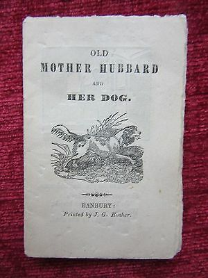 1840 Booklet Old Mother Hubbard And Her DogJ.G. Rusher Rare Original FC17