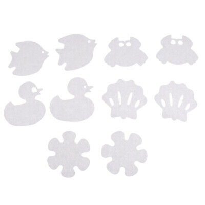 10Pcs Non-Slip Applique Stickers Bath Tub Treads Anti Skid Shower Bathroom Mat