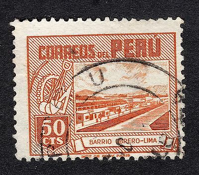1938 Peru 50c Labourers Homes at Lima SG 741 VERY GOOD USED R20208