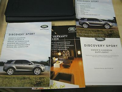 Land Rover Discovery 2014-2016 Owners Manual Handbook Wallet Covers  Sat Nav