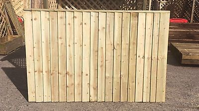 Brand New 6ft x4ft Strong Fully Framed Feather Edge Fence Panel Garden  RRP £30