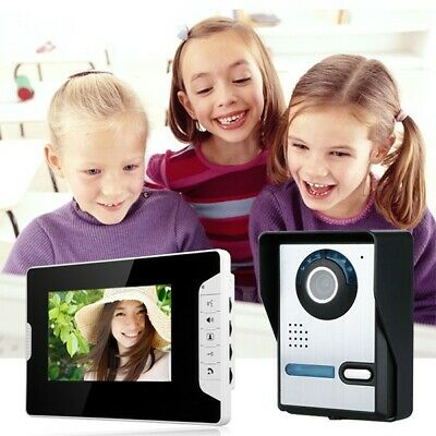 "Wired 7"" Color Video Door Phone Doorbell Intercom Security System Night Vision"