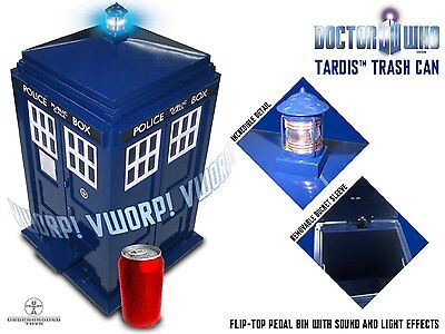 Doctor Who 00865 Superb Quality Tardis Model Flip Top Pedal Bin Perfect Gift New