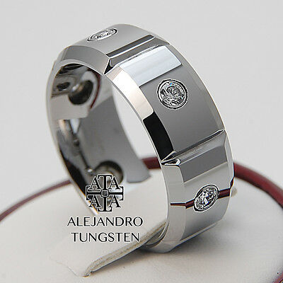 Tungsten Ring Wedding Band Comfort Fit 8MM Durable Polished Shiny Size 10 #BFB