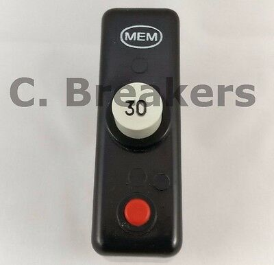MEM Push Button 30A Amp Single Pole MCB 250v BS3871 MCB QCB Memera Breaker
