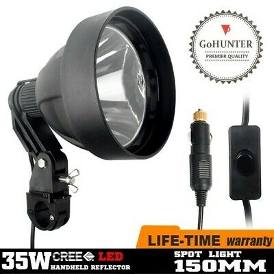 GoHUNTER 35W LED Rifle Scope Mount Spotlight Hunting Work Spot Light 150mm