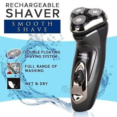 Electric Men's Shaver Beard Mustache Rechargeable Wet & Dry Waterproof Rotary