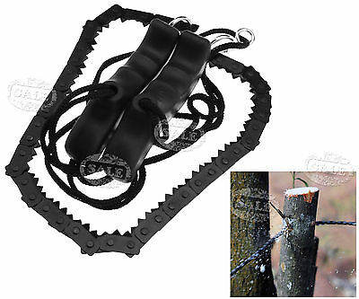 Hand Chainsaw Wire Saw Survival Bushcraft Camping EDC Tool Pocket Gear 48cm