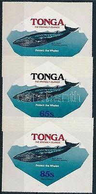 Tonga stamp Official:Blue whale set 1977 MNH Mi 162-164 WS219236