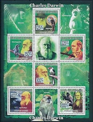 Comoroes stamp Charles Darwin mini sheet 2009 MNH Mi 2224-2229 WS218975