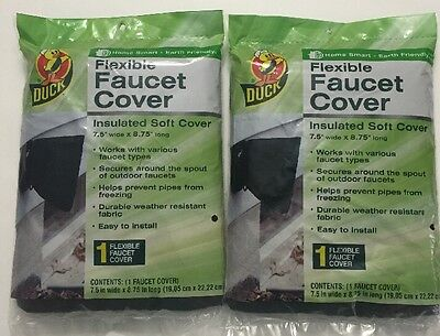 Duck Brand Insulated Soft Flexible Faucet Cover for Freeze Protection Pack Of 2