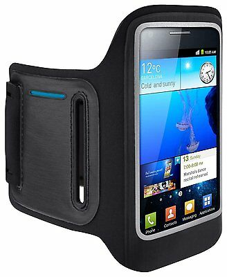 Belkin Samsung Galaxy S2 DualFit Neoprene Gym Running Armband Case/Cover Black
