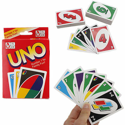 Standard Uno Card Game Family Friends CHILDREN 108 Playing Fun Cards UK