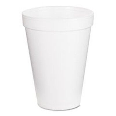 Drink Foam Cups, 12oz, White, 25/bag, 40 Bags/carton By: Dart