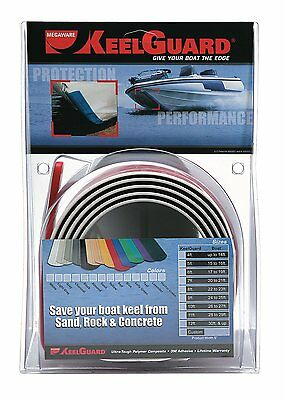 Megaware KeelGuard 6 Feet Strip 17-18 FT Boat Hull Keel Proector Black 20206