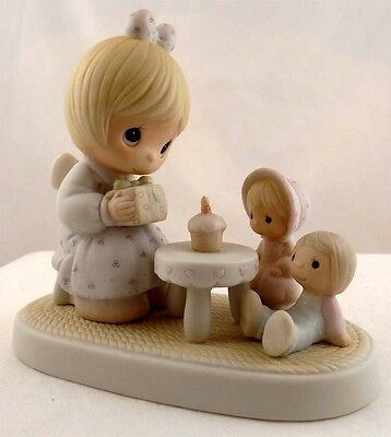 "E-2826 ""May Your Birthday Be A Blessing"" 1984 Precious Moments Figurine"