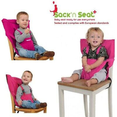 Pink Portable Sack'N Seat Baby Kids Travel Carry Bag High Chair Seat Cover