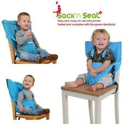 New Sack'N Seat Baby Child Portable High Chair Seat Cover belt + Shoulder straps