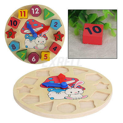 Funny Wooden Toy Gift Baby Kid Children Intellectual Educational Building Blocks