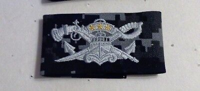 U.s.navy Qualification Sew On Nwu1, Blue,master Swcc, Seal, Full Size, ***new***