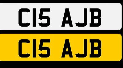 Private plate , registration , cherished number  - C15 AJB -  on retention .