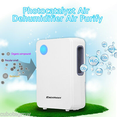 2L Semiconductor Air Dehumidifier Dryer Damp Mould Moisture Home Kitchen Bedroom