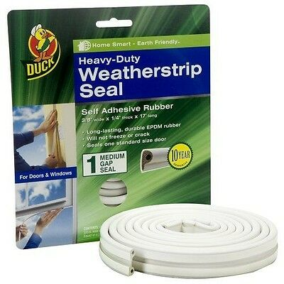 Duck Brand 282435 Heavy-Duty Self Adhesive Rubber Weatherstrip Seal for Medium G