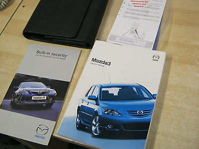 MAZDA 3 OWNERS MANUAL HANDBOOK 2003-2006  Inc wallet and COVERS AUDIO