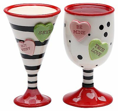 "StealStreet 3.5"" Valentine Wine and Martini Cups Salt and Pepper Shaker"